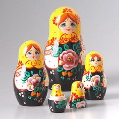 Floral Gift Nesting Dolls