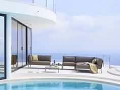Conic Modular Sets come with many small design features that enhances the overall look. This elegant set can be used as a resort or hotel furniture setting Furniture Sets, Outdoor Furniture, Outdoor Decor, Rain Shower, Cushions, Weather, Patio, Luxury, Unique