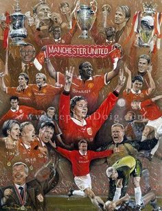 1999 One of the best years of the United Forever Manchester, Charly Chaplin, Man Utd Fc, Manchester United Wallpaper, Manchester United Players, Man United, Cartoon Pics, Fc Barcelona, Liverpool