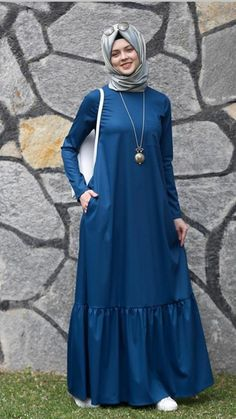 Navy dress w/ hijab