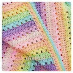 Almost finished the border on this beauty! xx by woolly_wonkas_crochet_factory Crotchet Blanket, Baby Afghan Crochet, Crochet Quilt, Manta Crochet, Crochet Motif, Crochet Hooks, Free Crochet, Knit Crochet, Baby Afghans