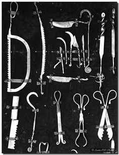 Vintage Mortician's tools for the undertaker who never dies.