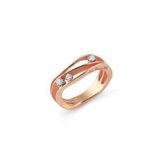 Dune Gold Ring with Diamonds .19ct - Annamaria Cammilli