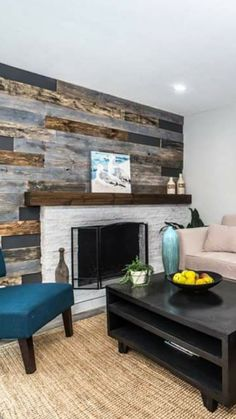 rustic fireplace mantel reclaimed distressed by