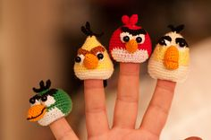 angry birds amigurumi finger puppets | by PhilZayco