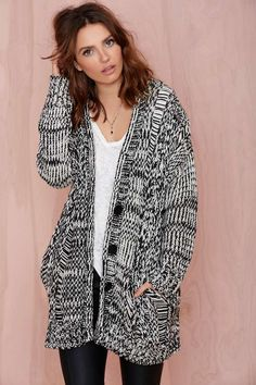 Joa Opposition Sweater Cardigan | Shop What's New at Nasty Gal