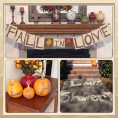 Fall wedding shower