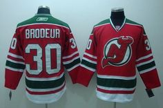 f6fbc9f1a Devils  30 Martin Brodeur Embroidered Red and Green CCM Throwback NHL Jersey   Emillia Kelly