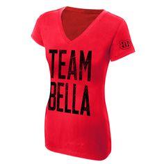 "The Bella Twins ""Team Bella"" Women's V-Neck Authentic T-Shirt - WWE Shop"