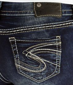 SILVER JEANS SALE Dark Super Low Tuesday Bootcut Stretch Jean 25