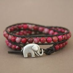 I love elephants and pink beads!