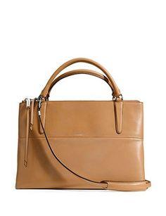 Coach Totes The Borough Bag In Camel Retro Glove Tan Leather