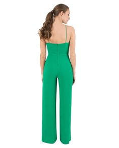 c7f05ec191a9 Lyst - Black Halo Joaquin Crepe Jumpsuit in Green Halo