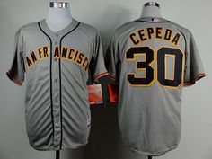 MLB Man's San Francisco Giants #30 Orlando Cepeda Jersey Gray