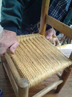 Bailing Twine Chair Weaving