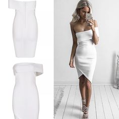 Deniz white Bandage Dress