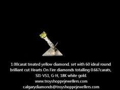 Yellow diamond engagement ring!  www.troyshoppejewellers.com