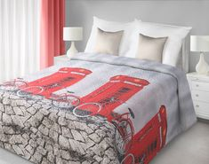 Přehozy na postel oboustranné šedé barvy Comforters, Blanket, Furniture, England, Home Decor, Creature Comforts, Quilts, Decoration Home, Room Decor
