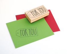 Gift Tag Stamp For You DIY Gift Wrap Packaging by EmDashPaperCo