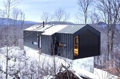 Minimalist steel cabin floats above a rugged slope in Quebec | Inhabitat - Green Design, Innovation, Architecture, Green Building