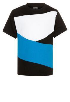 Urban Classics T-shirt basic - black/turquoise/white - Zalando.nl