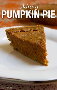The perfect low-calorie pumpkin pie recipe!