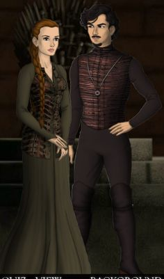 Canis Black and his fiancee Milburge Macnair.  Milburge was sorted into Slytherin too, but was younger than him.