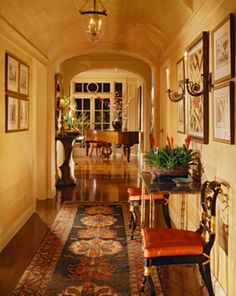 I love the artistic balance of the art and architecture in this incredible hallway. JH