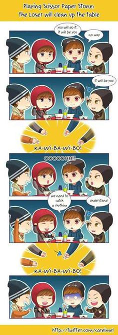 I love this! Shows the cheeky side of Baozi. Chen, Lay, Deer, Baozi EXO's SHOWTIME fanart