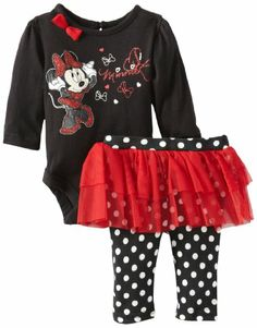 $21 Disney Baby Girls Minnie Mouse Polka Dots 2 Piece Skegging Set, Black/Red, Newborn Disney,http://www.amazon.com/dp/B00DS3G6Y0/ref=cm_sw_r_pi_dp_pVvXsb1G653PX0VS