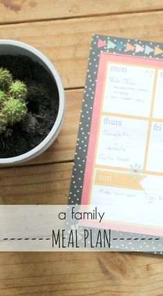 a family meal plan -