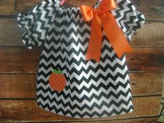 Fall Chevron Dress by BibsandBurps on Etsy, $20.00
