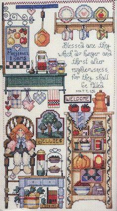 Schema punto croce Kitchen Potpourri 02