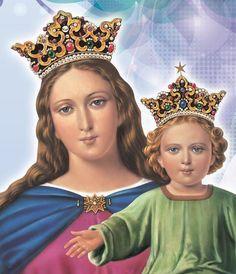 Virgen María Auxiliadora oración para pedir un milagro Divine Mother, Blessed Mother Mary, I Love You Mother, Blessed Virgin Mary, Mother And Father, Queen Of Heaven, Mary And Jesus, God Jesus, Religious Pictures