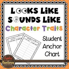 """#kindnessnation #weholdthesetruths Do you do """"looks like/sounds like"""" anchor charts with your students? Are you working on teaching character traits such as honest, generosity, and cooperation? Here is a free student anchor chart that your students can use along with your"""