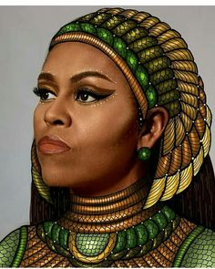 Painting of U.S. First Lady Michelle Obama
