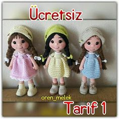 Leithygurumi: Amigurumi Lal Baby Free Turkish Recipe - Design by Melek An - crochet patterns Doll Patterns Free, Crochet Amigurumi Free Patterns, Knitted Dolls, Crochet Dolls, Plastic Bag Crochet, Crochet Baby Clothes, Pretty Dolls, Amigurumi Doll, Baby Sewing
