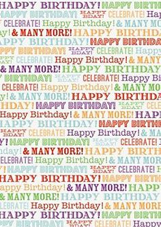 Happy Birthday Typography Wrapping Paper