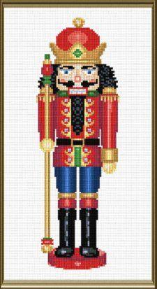 Henry nutcracker cross stitch pattern.