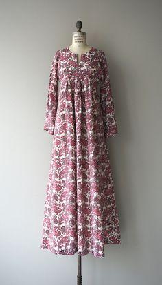 Paislazy caftan dress vintage 1970s caftan floral by DearGolden
