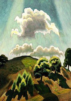 Charles Burchfield (1893-1967), Hill Top at High Noon, 1925