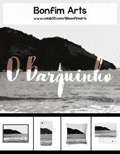 Estampa O Barquinho - Bonfim Arts.  #BonfimArts #OBarquinho #Musica #Music #MPB #Design #Brazil #Lettering #Santos #Praia #Barco #Brasil #Beach #Decor #Moda #Estampa #Moda