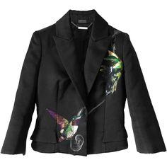 ALEXANDER McQUEEN 2009 Collection Hummingbird embroidered silk jacket | Brand dress rental salon''SHIROTA''