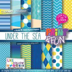 #spongebob #bobesponja #spongebobthemovie #jellyfish Fondos Papel Digital clip art burbujas fondo del mar por Printnfun