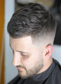 Short Hair with Mid Fade Men's Hairstyles