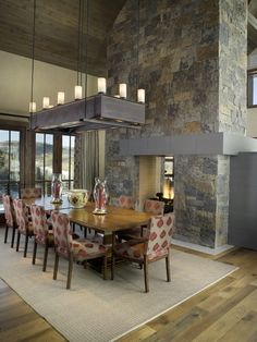 Modern Stack Stone Fireplace Design, Pictures, Remodel, Decor and Ideas - page 11 Insert Double Face, Living Room Divider, Room Divider Bookcase, Room Divider Walls, Wooden Room Dividers, Folding Room Dividers, Dining Rooms, Dining Room Fireplace, Open Fireplace
