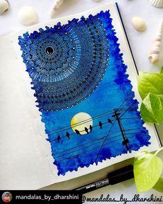 Mandala Book, Mandala Canvas, Mandala Art Lesson, Mandala Artwork, Doodle Art Drawing, Mandala Drawing, Cool Art Drawings, Pichwai Paintings, Funny Paintings
