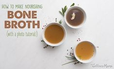Where to buy**Bone broth is an incredibly nutritious and health-boosting food that is very easy to make. This step by step tutorial shows you how. Chicken Soup Recipes, Beef Recipes, Real Food Recipes, Cooking Recipes, Healthy Recipes, Recipies, Fall Recipes, Healthy Foods, Food Tips