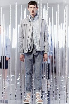 photo : sacai man : 2015 SS : sacai Bomber Jacket, Suit Jacket, Breast, Mens Fashion, Suits, Sacai, Jackets, Style Men, Men Fashion
