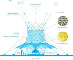 """""""Warka water"""" combines lightweight bamboo with a hydrophobic mesh to source water from the air. #agriculture  #water #architecture #art #design #resources #architect #visitingschool #innovation #bamboo #lightweight #dew #humidity #condensation #membrane #materials #analysis #study #unitednations #farming #life #fun #cop21 #horticulture #vegetation #plants #life #sustainability #sustainable #worldwaterday #waterworks Re-post by Hold With Hope"""